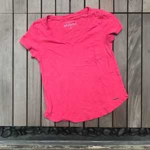 Abercrombie & Fitch | Essentials Pink Cotton Tee